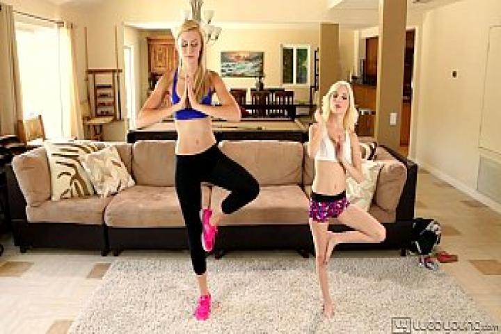 Лесбийский секс после урока фитнеса Алексы Грейс и Пайпер Перри